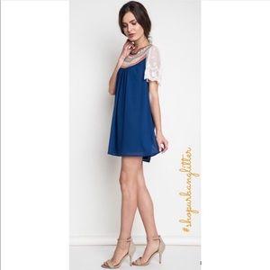 Dresses & Skirts - ✨LAST ONE✨ NWT Blue Flowy Mini Babydoll Dress